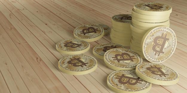 Bitcoin cryptocurrency 디지털 통화 3d 그림