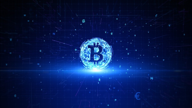 ビットコイン暗号通貨デジタル暗号化デジタル両替