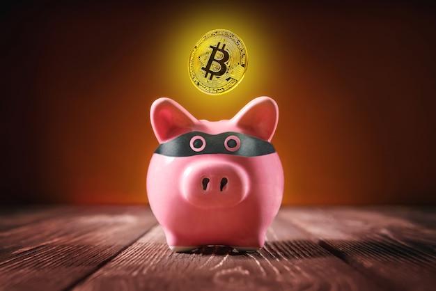 ビットコイン暗号通貨ピギーバンク強盗