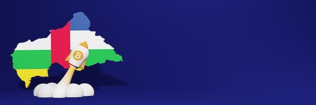 ウェブサイトコンテンツのための中央アフリカ共和国のビットコイン暗号通貨上昇チャート