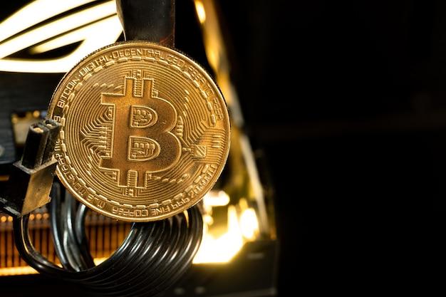Gpu上のビットコインゴールデンコイン。お金の未来。