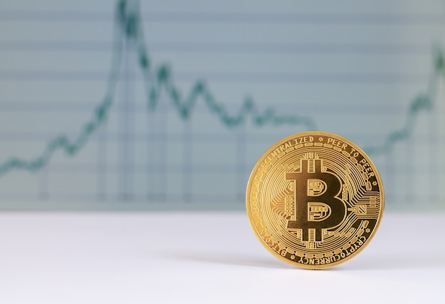Bitcoin on a graph chart