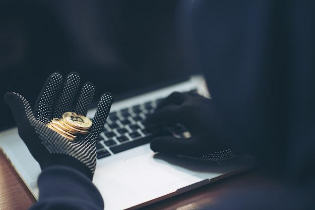 Bitcoin on hand hacker