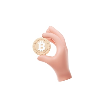 Значок холдинга bitcoin