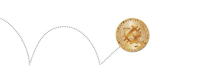 白で分離されたビットコイン