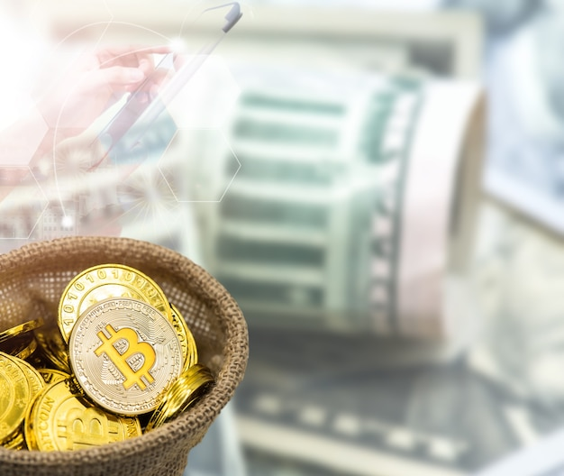 ビットコイン。ブロックチェーン向けの新しい仮想通貨テクノロジービジネス