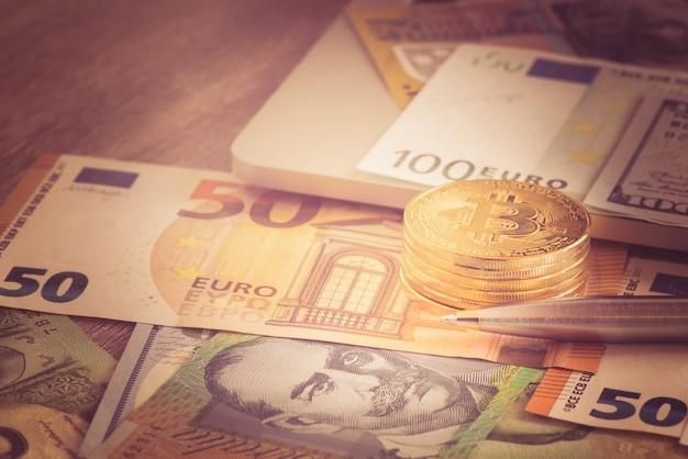 Bitcoin new virtual money with euro