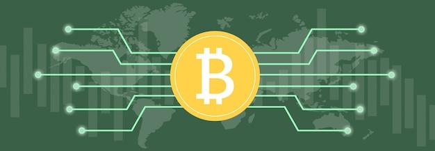 여러 가지 빛깔의 배경 및 세계 지도에 대한 여러 가지 색상의 메트릭 및 차트에 대한 bitcoin