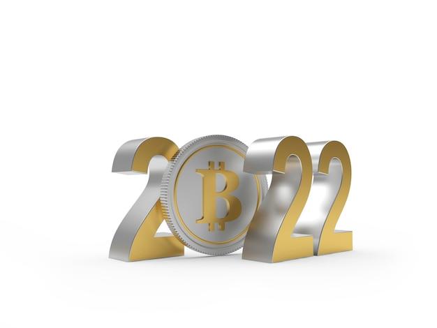 Биткойн с номером новый год