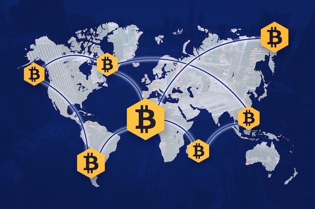 暗号通貨bitcoinブロックチェーン共有写真