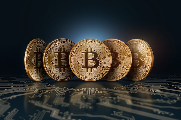Bitcoins.  electronic money, crypto currency.