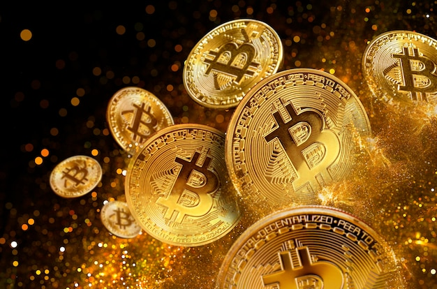 Bitcoins mining concept