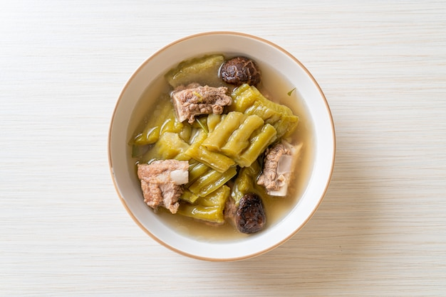 Bitter gourd with pork spare rib soup - asian food style