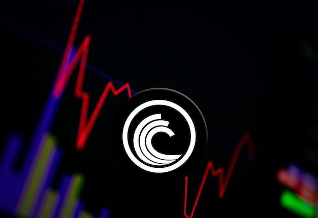 交換チャート上のbittorrentbtt暗号通貨コイン成長チャート