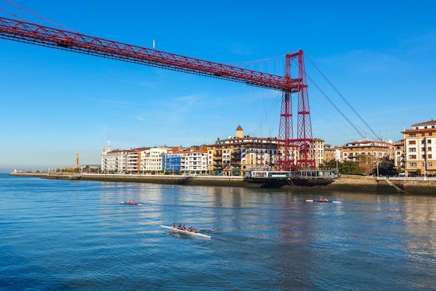 Bizkaia suspension bridge in portugalete, spain