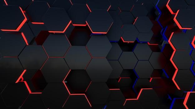블랙 3d 육각형 배경