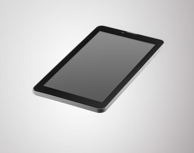 Черный планшет на темном фоне крупным планом