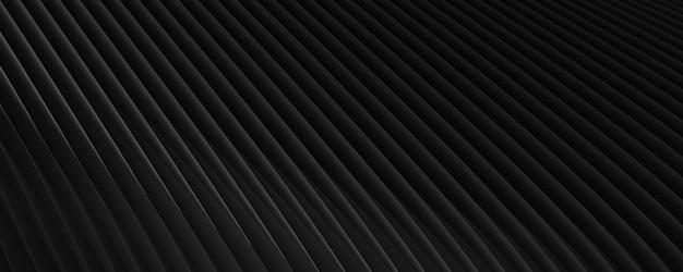 Черный абстрактный фон для баннера. текстура из полос. узор из линий. 3d-рендеринг.