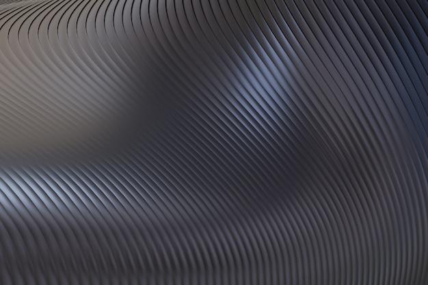 黒の抽象的な壁の波のアーキテクチャ抽象的な背景3dレンダリング、プレゼンテーション用の黒の背景