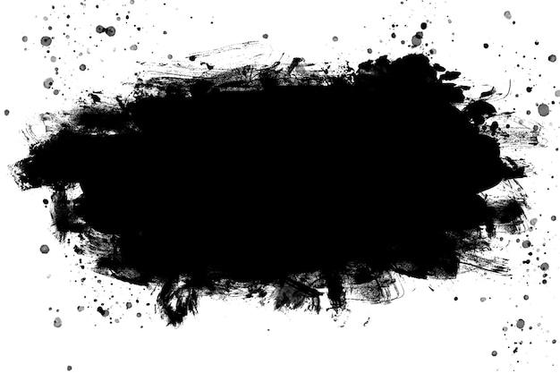검은 추상 수채화 페인트 브러시 텍스처입니다. 배경. 공간을 복사합니다.