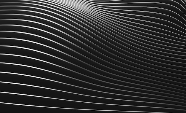 Black abstract wave wall texture