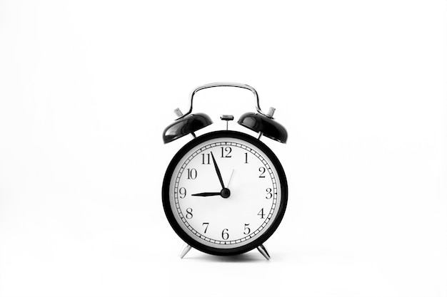 블랙 알람 시계입니다. oclock 아침 알림 시간 개념