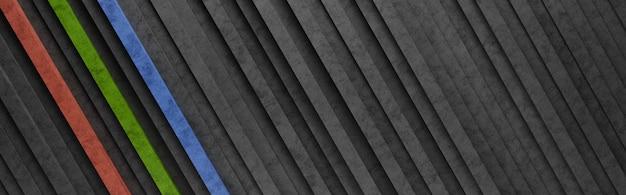 검은 색과 화려한 대각선 줄무늬 패턴