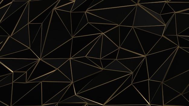 ブラックとゴールドの抽象的な三角形の背景