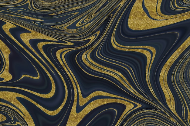 Черный и золотой мрамор абстрактный фон