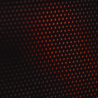 黒と赤の水玉繊維