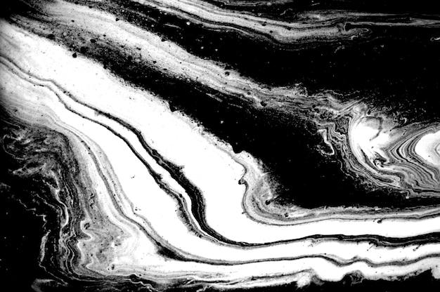 Черно-белая абстрактная имитация агатовой ряби