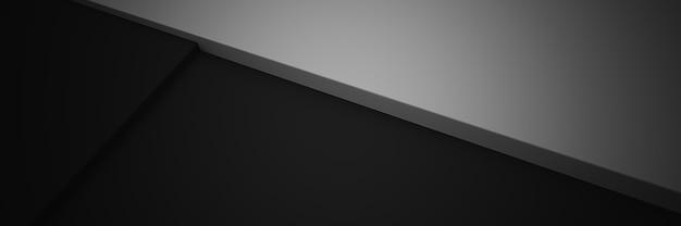 黒と白の抽象的な背景、3dレンダリング。