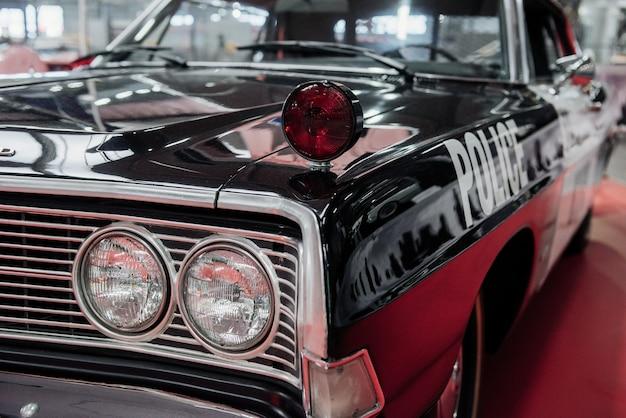 흑백 컬러 경찰차