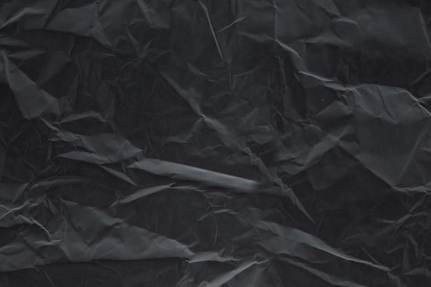 Черно-белая текстура мятой бумаги