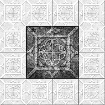 大理石のパターンと質感の黒と白の装飾的な石のタイル。壁のデザインの要素。背景の質感