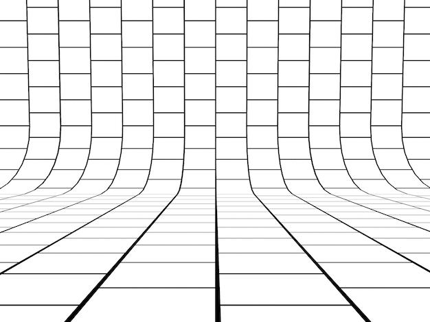 Черно-белые линии сетки фон