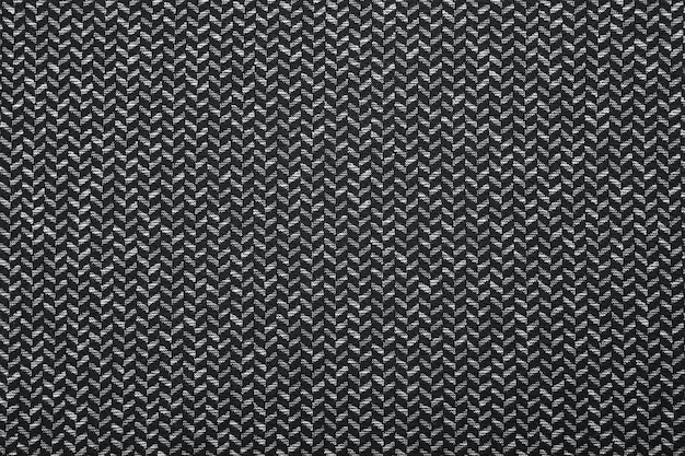 흑인과 백인 헤링본 패브릭 패턴 질감 근접 촬영