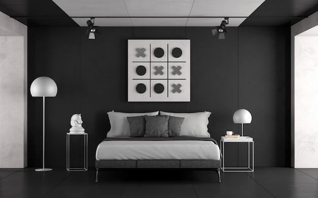 흑백 마스터 침실