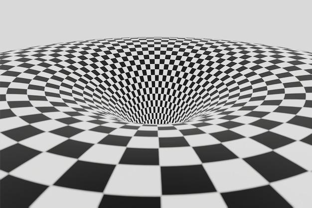 Черно-белый полосатый туннель анимация фон анимация 3d рендеринг