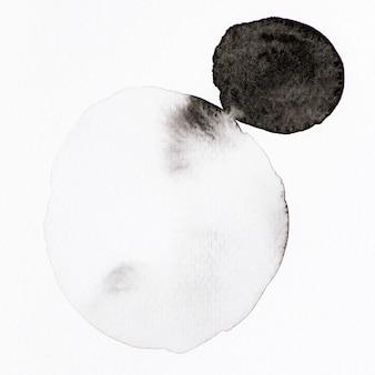 黒と白の水彩画