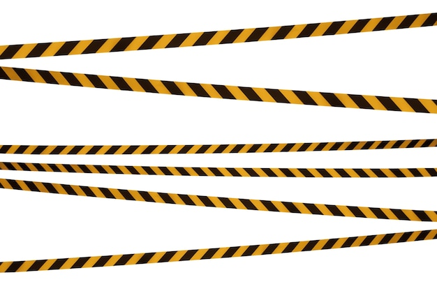 バリアテープの黒と黄色の線は通過を禁止します。