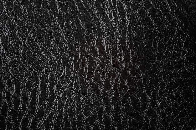 Текстура черной искусственной кожи