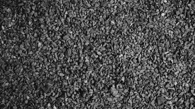 Black asphalt stone