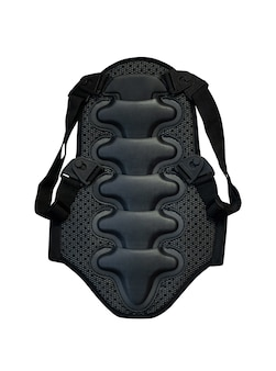 Black back protector for extreme sports