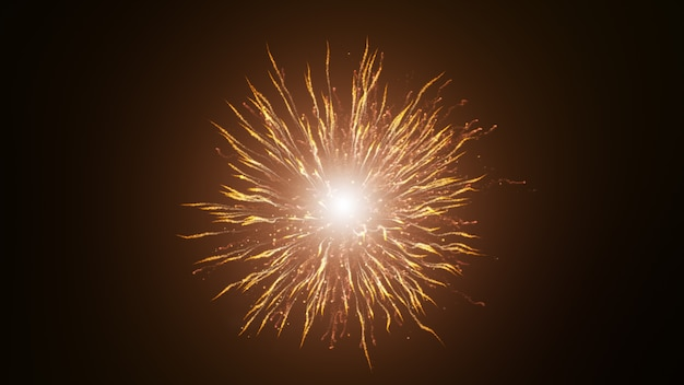 Black background, digital signature with explosive particles