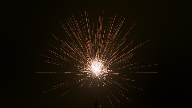 Black background, the particles are light waves in yellow gold.