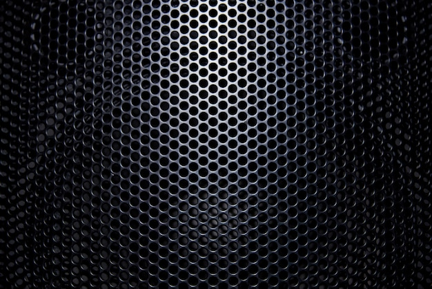 Black background protective grille with light.