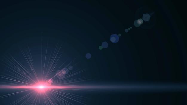 밝은 광선 우주 광선 배경과 검은 배경 밝은 스타 3d 렌더링