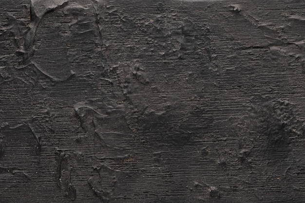 검정색 배경. 나무는 상세한 3 차원 질감, 나무에 얼어 붙은 페인트로 질감