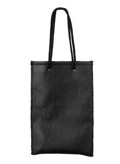 흰색 절연 검은 가방